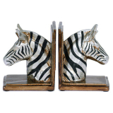 Zebra Bokstöd Svart/Silver 2-Pack