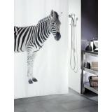 Zebra Duschdraperi Svart