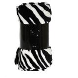 Zebra Fleecepläd Svart/Vit