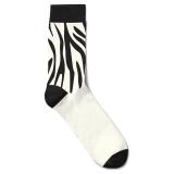 Zebra Strumpa Bambu Vit